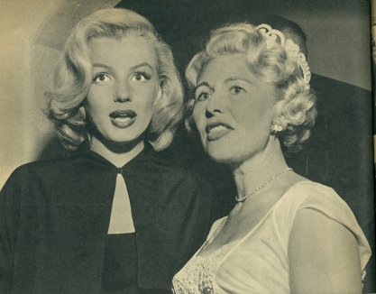 My mother, at right, standing with Marilyn Monroe at a party at our house.